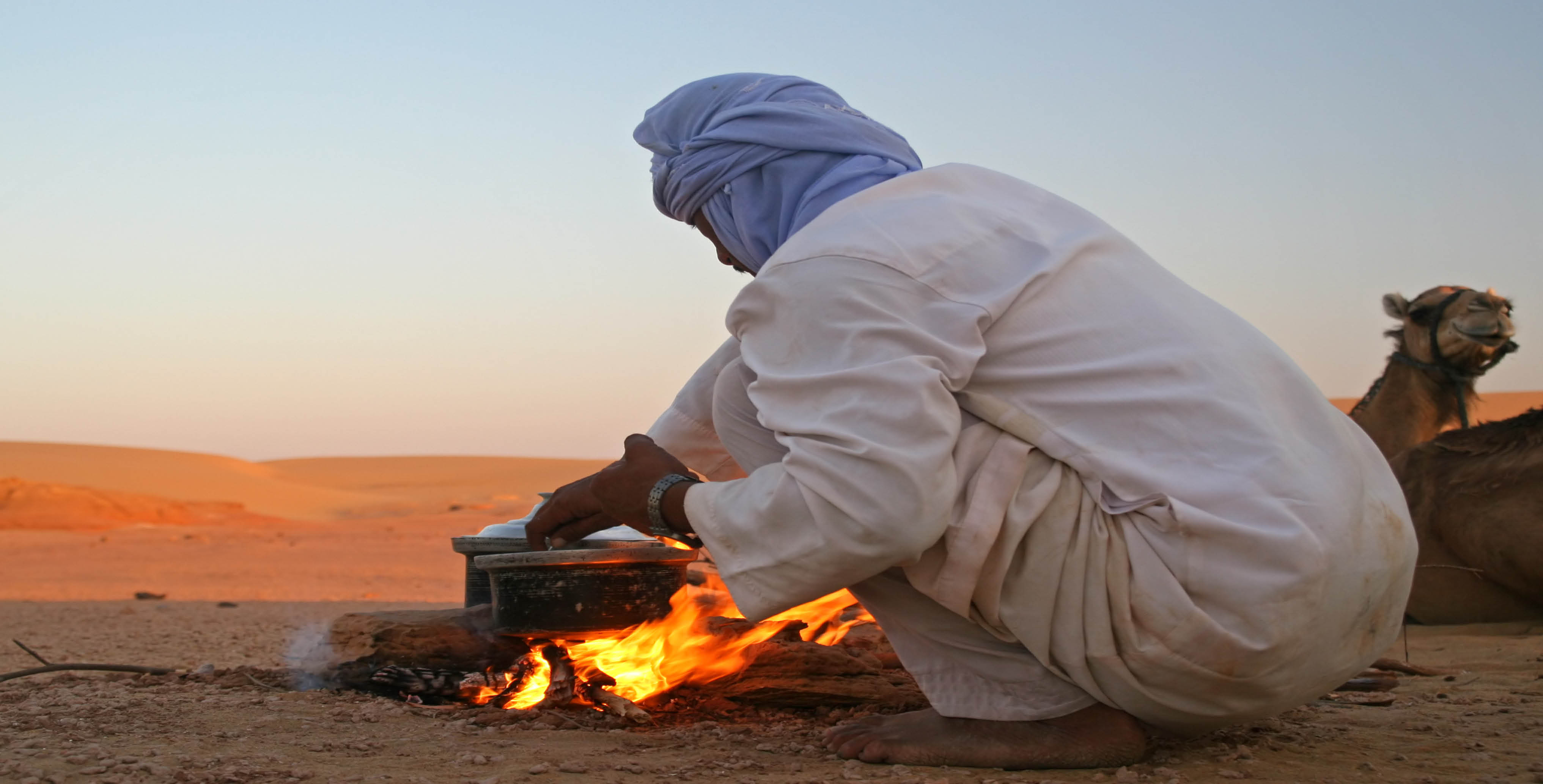 Bedouin cooking a zarb