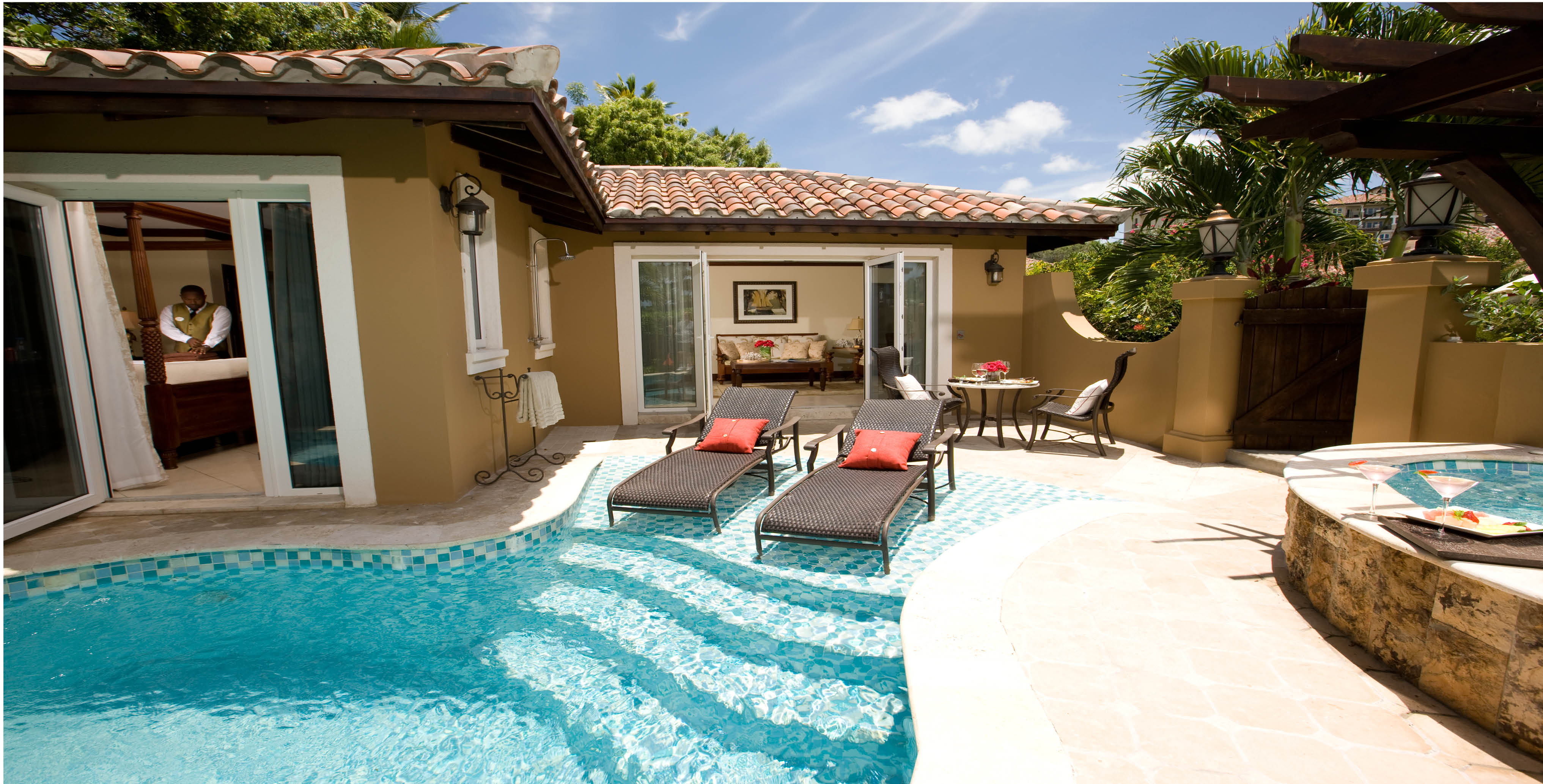 Mediterranean One-Bedroom Butler Villa with private pool
