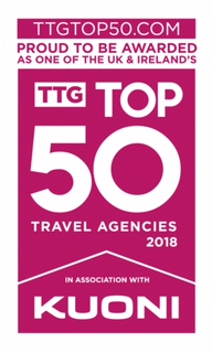 58a6dbb3e19 Proud to be named one of TTG's Top 50 Travel Agencies in the UK and Ireland  2018 - and one of the Top Three in the East of England!